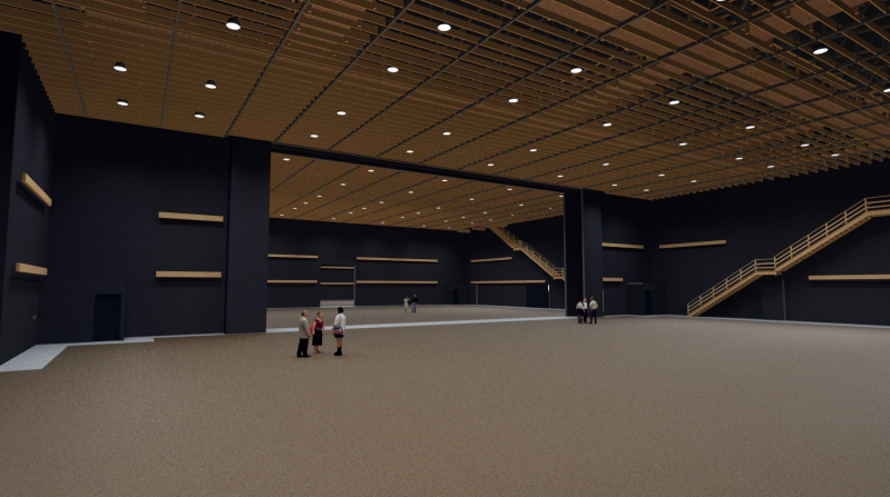 Progress on construction continues to push forward! Here's a virtual view of the sound stages. Prepare to be inspired!
